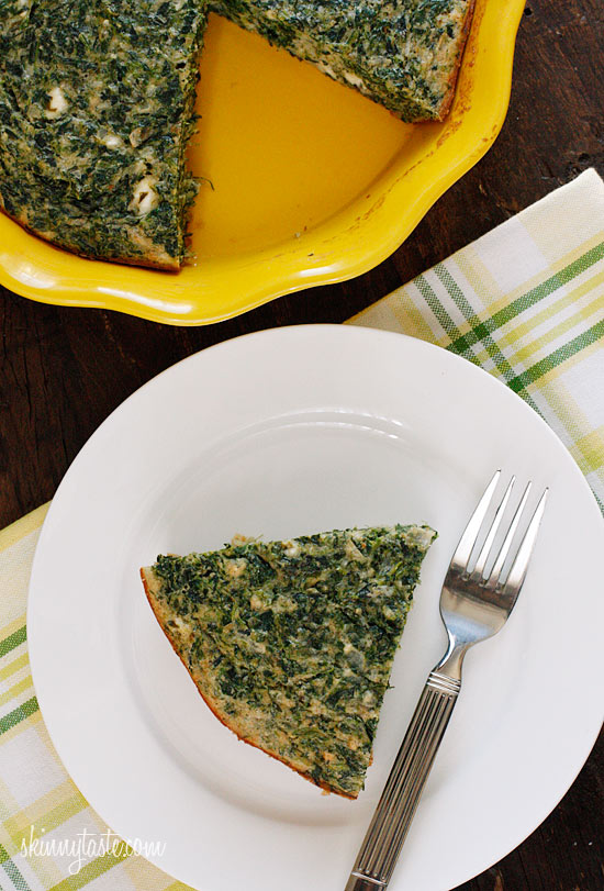 easy crust less spinach pie Easy Crust less Spinach and Feta Pie