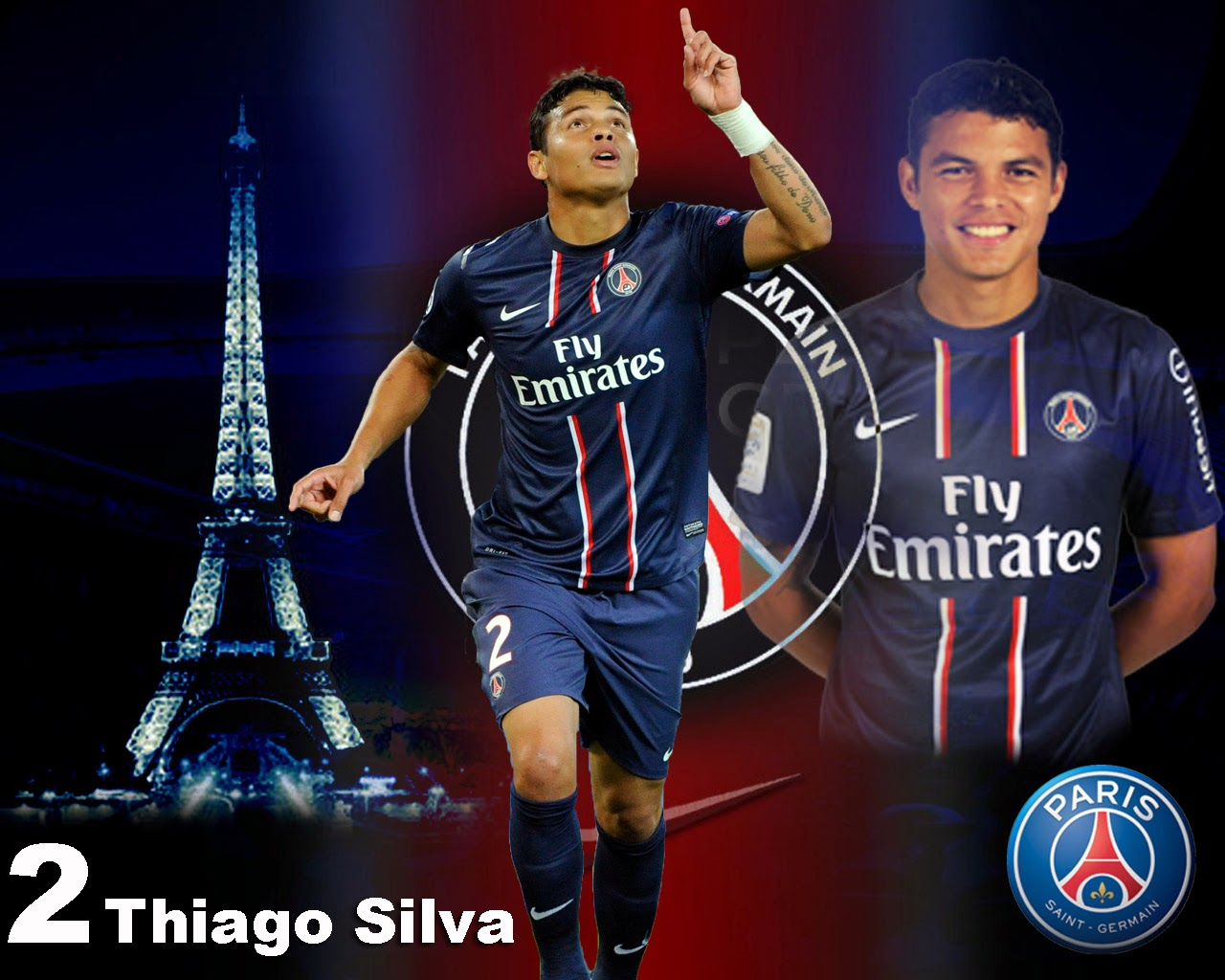 The New Best Player Top Thiago Silva PSG Wallpaper