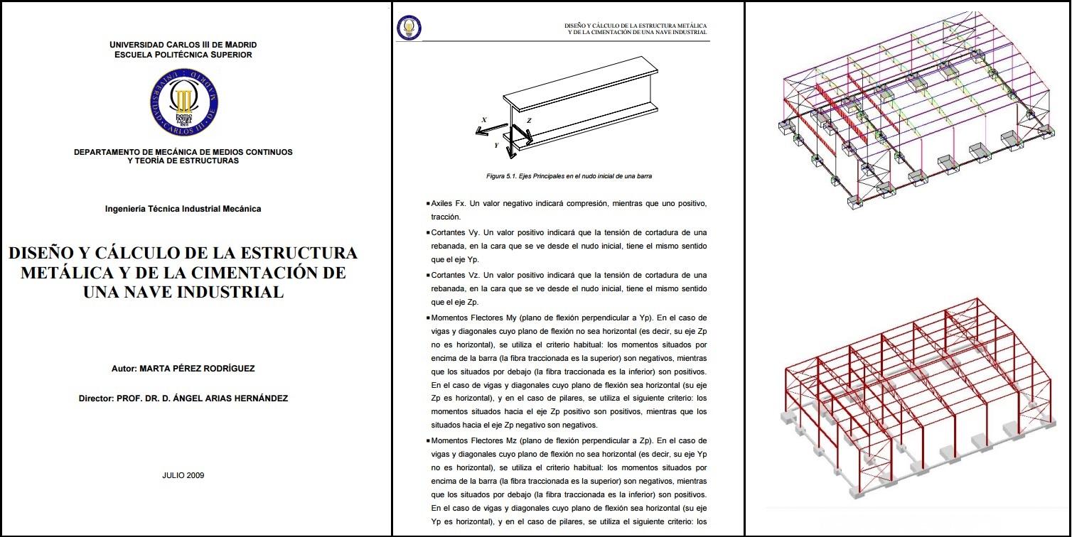 Dise o y c lculo de la estructura met lica y cimentaci n - Diseno nave industrial ...