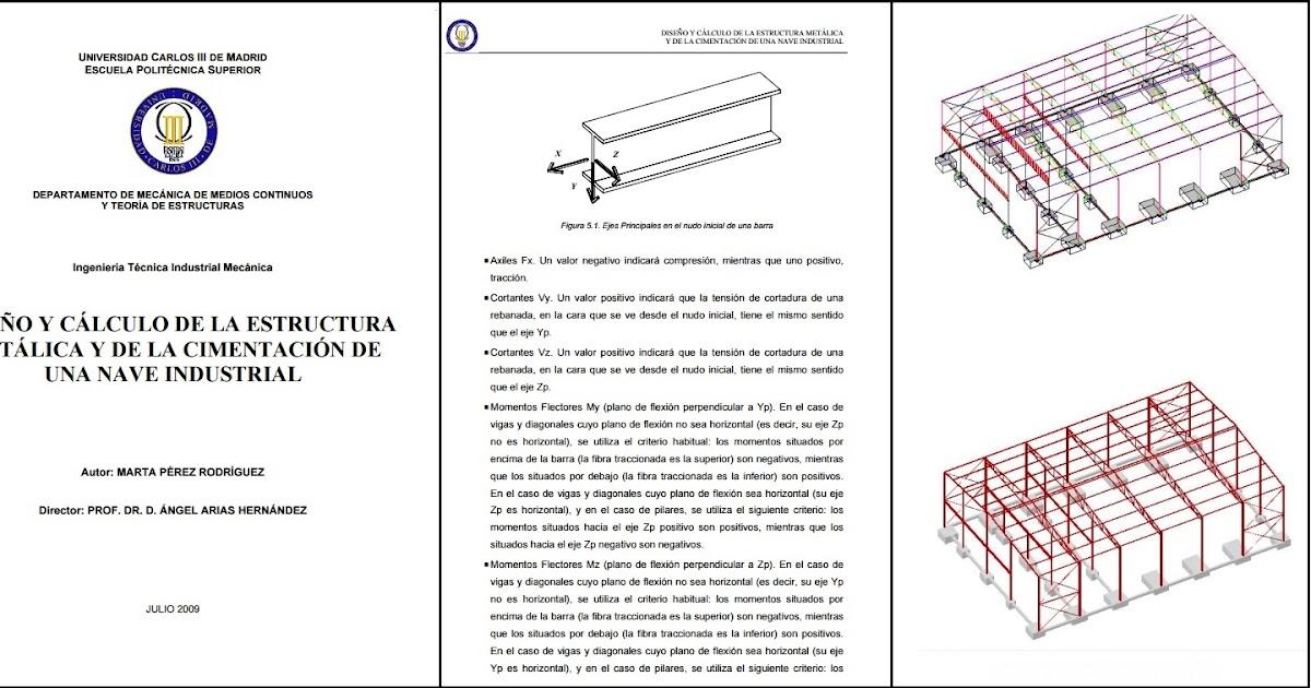 Dise O Y C Lculo De La Estructura Met Lica Y Cimentaci N