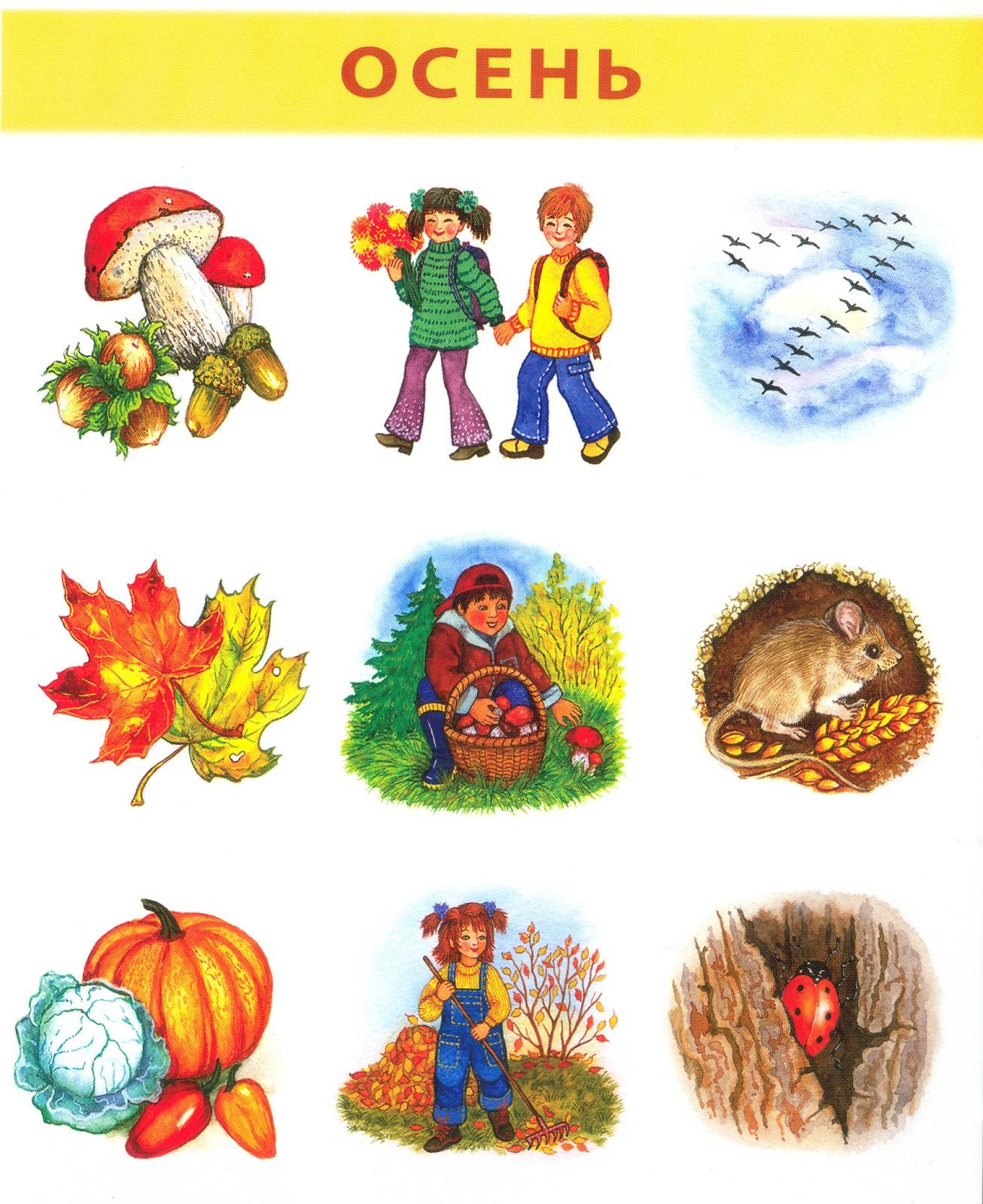 Рисунки о осени