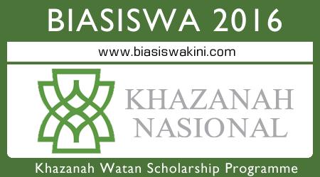 Khazanah Watan Scholarship Programme 2016