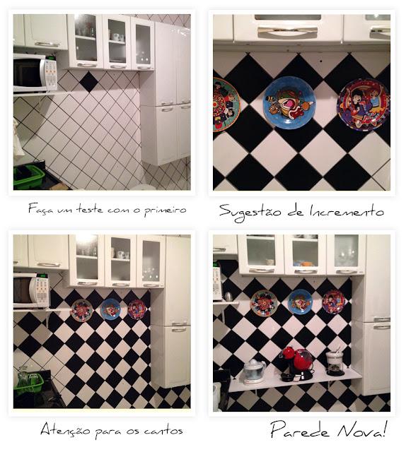 Estilo Retrô Rock Retrô Rock no Homens da Casa e todos os posts DIY para s # Azulejo Cozinha Com Papel Contact