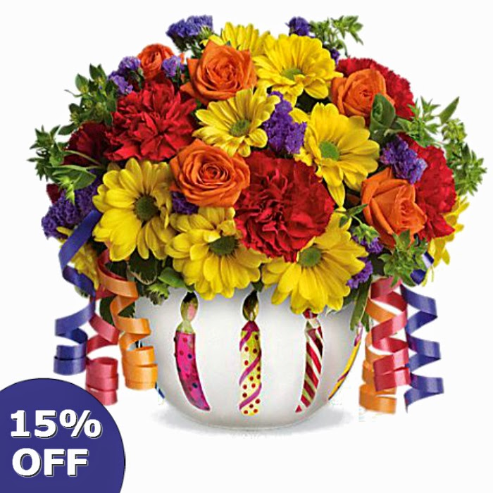 Get 15% off on flowers
