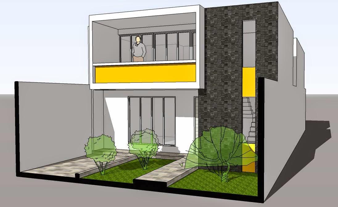 Cristian campos dise o de vivienda bifamiliar en terreno for Diseno de casa de 5 x 10