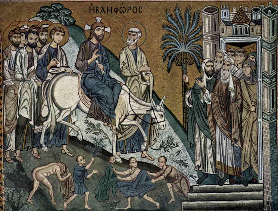 Day of Palaspas - Triumphant entry of Jess to Jerusalem