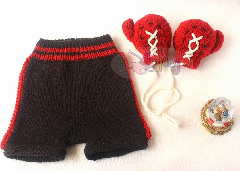 Knitting Pattern Boxing Gloves : Ajeng Belajar Merajut: Rajut Free Knitting Pattern : Simple Baby pants and bo...