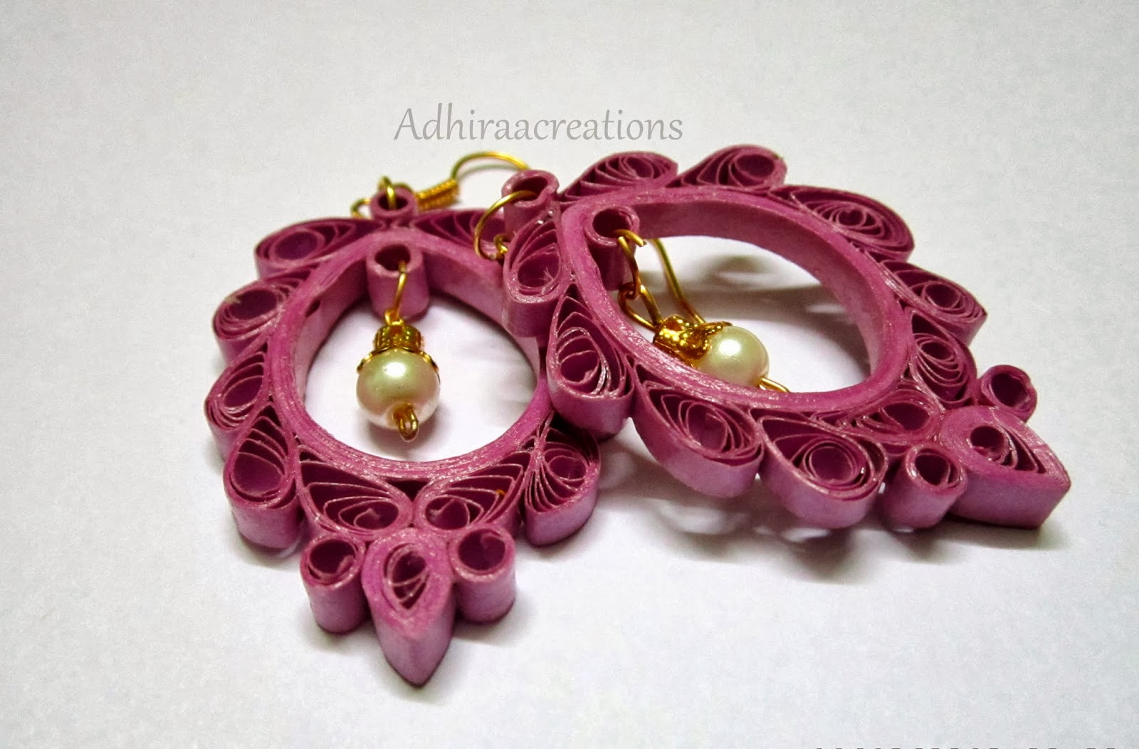 Adhiraacreations: Quilling Earring Designs