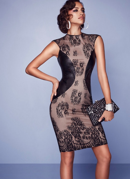 Irina Shayk stuns for the Bebe Holiday 2015 Lookbook
