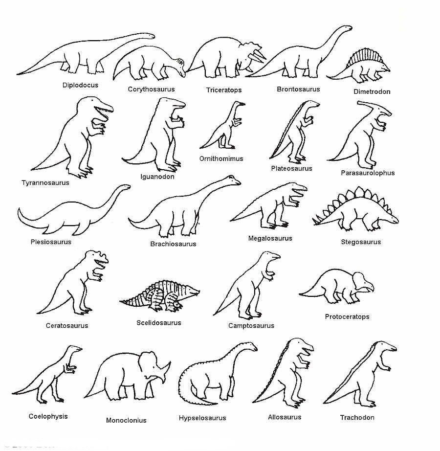 de dinosaurios muy divertidos para colorear. Esperamos que os gusten