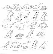 Tipos de dinosaurios dinosaurios para colorear
