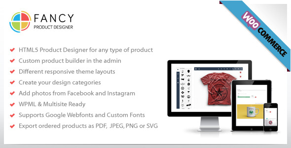 CodeCanyon Fancy Product Designer v2.1.0 – WooCommerce plugin