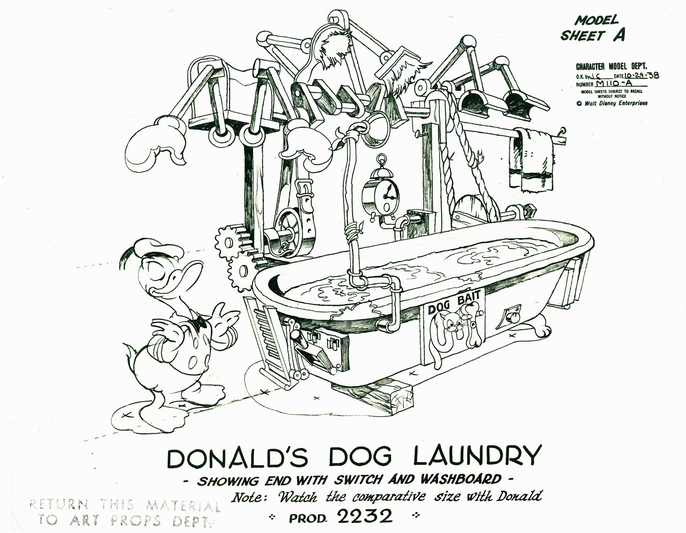 Donald's Dog Laundry, 1940