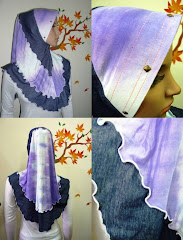 Tudung Ferina Denim Button