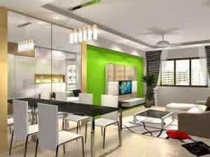desain interior rumah minimalis nuansa hijau bag 2