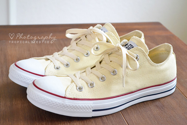 Converse Chucks low beige gelb