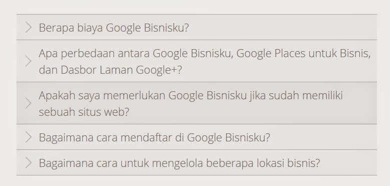 F A Q di google bisnisku