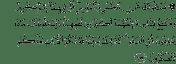 Surat Al-Baqarah Ayat 219