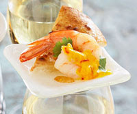 Shrimp with Spicy Saffron Sauce
