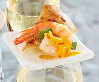 Shrimp with Spicy Saffron Sauce
