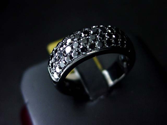 Mens black diamond rings Jewellery