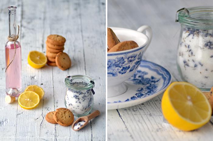 lavender lemon cookies tea cup chamomile syrup sugar