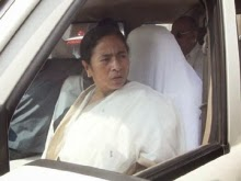 Mamata Banerjee interacting with the media at the Bagdogra airport