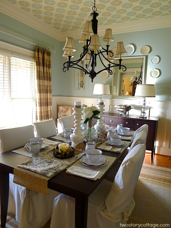 Photos of coastal inspired dining rooms home christmas decoration - Cottage dining room table ...