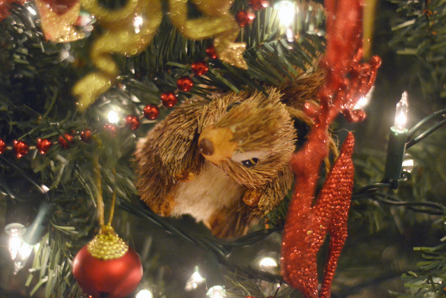Squirrel tree decoration