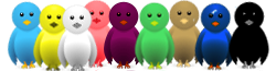 Widget animasi burung terbang twitter