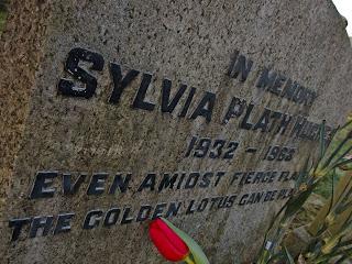 Sylvia Plath gravestone closeup