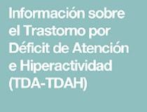 INFORMACIÓN SOBRE TDAH