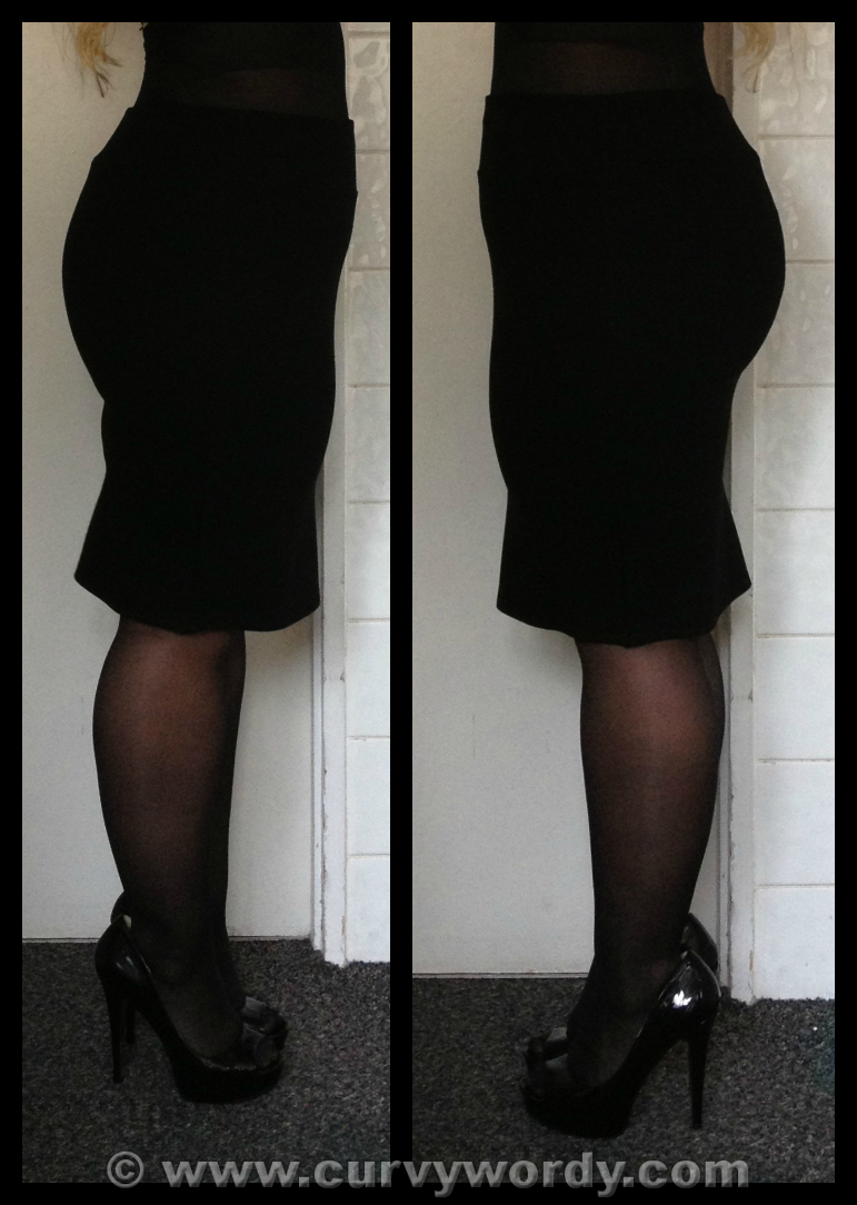 Curvy Wordy: F&F Clothing At Tesco Black Ponte Pencil Skirt 16