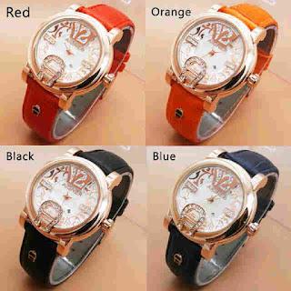 jual jam tangan cantik aigner batik polos leather