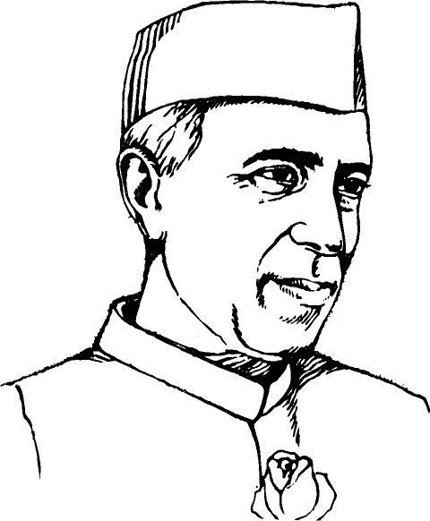 Pandit Jawaharlal Nehru Drawing Pandit Jwahar Lal Nehru