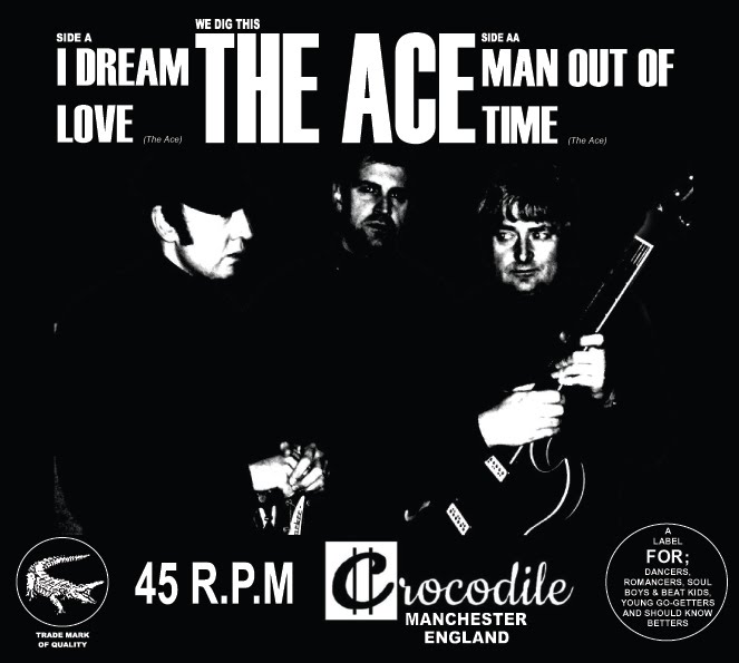 "limited edition vinyl 7"" of The Ace on Crocodile Records"