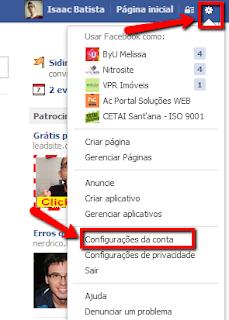 Passo 3 para remover vírus do Facebook: configuração da conta
