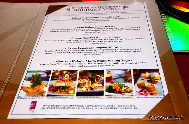 Enak KL @ Starhill Gallery 8th Year Anniversary Gourmet Menu