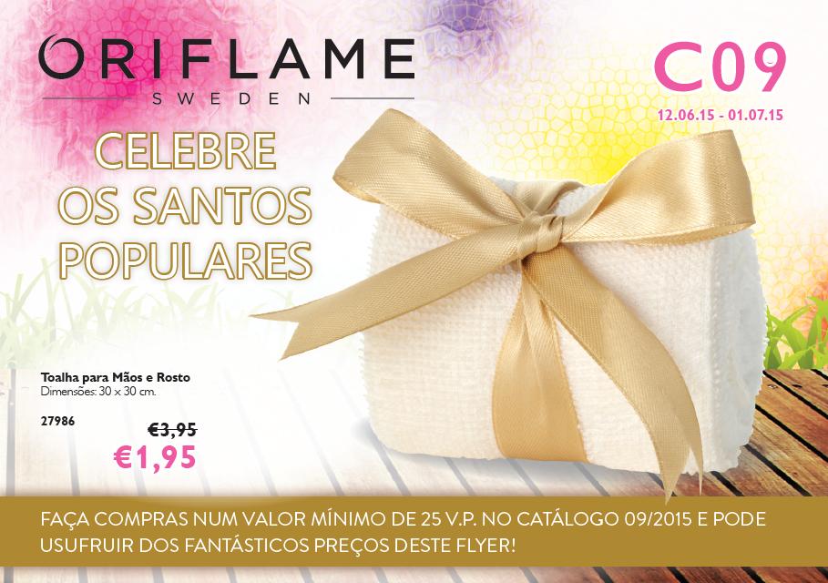 Flyer do Catálogo 09 de 2015 da Oriflame