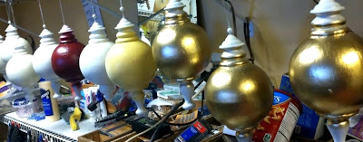 hand painting large christmas ornaments
