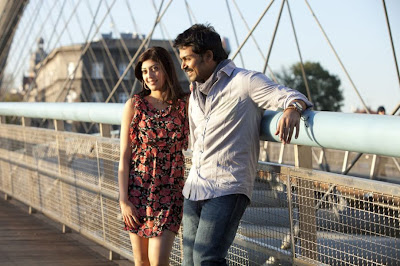 Karthi and Pranitha in Saguni Tamil Movie Latest Stills