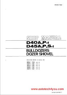 Komatsu D40-D45 Bulldozer Service Manual