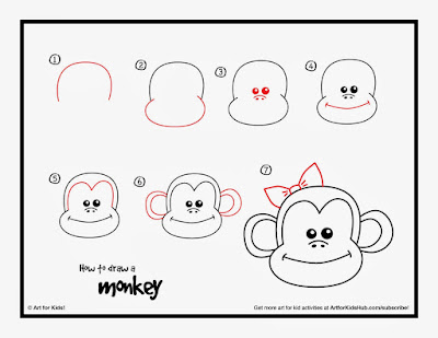 рисуем морду обезьяны поэтапно карандашом