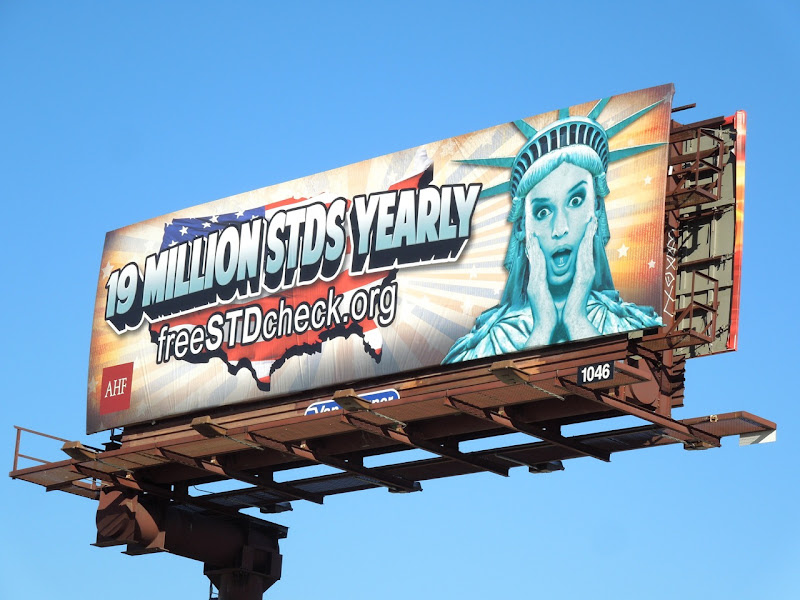 19 million STDs yearly AHF billboard