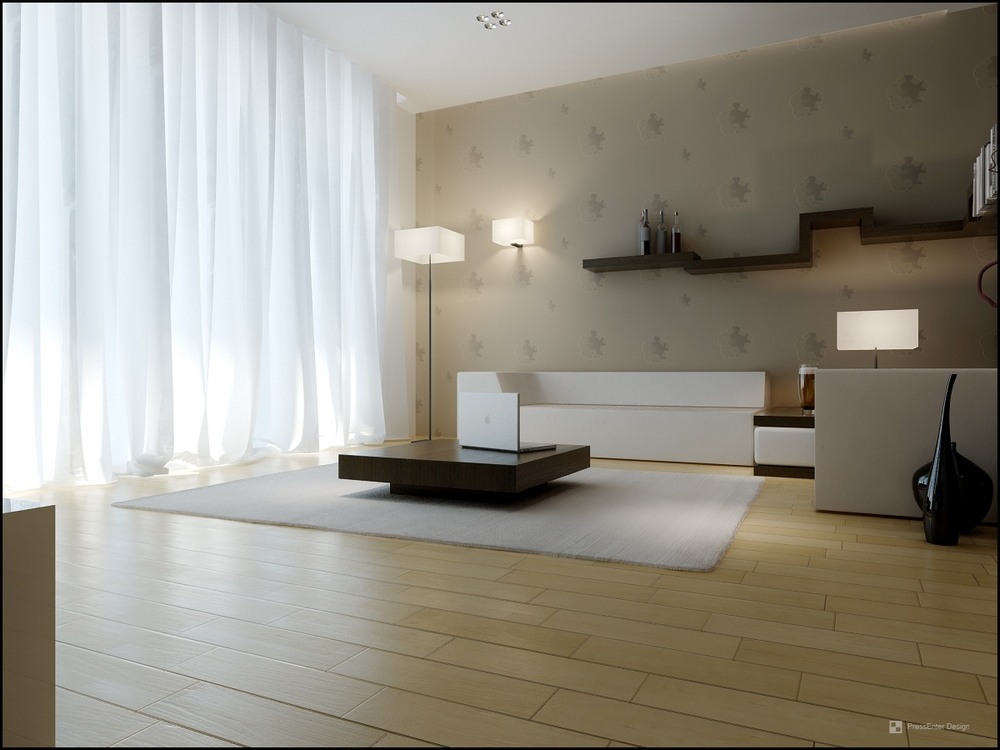 Apartment Interior Design With Carpet