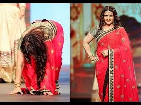 Actress Poonam Dhillon falls while ramp walk Pics