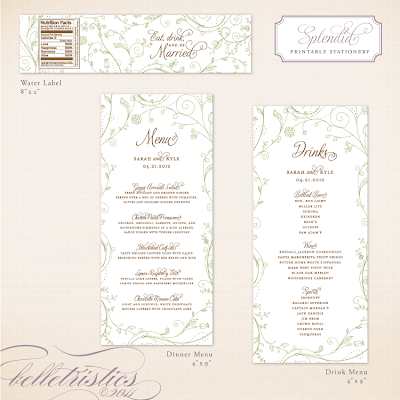 spring floral green wedding reception stationery printable diy