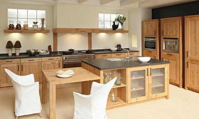 Cuisine moderne en bois massif for Cuisine en bois massif moderne