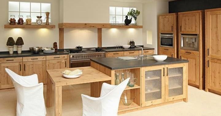 cuisine moderne en bois massif. Black Bedroom Furniture Sets. Home Design Ideas