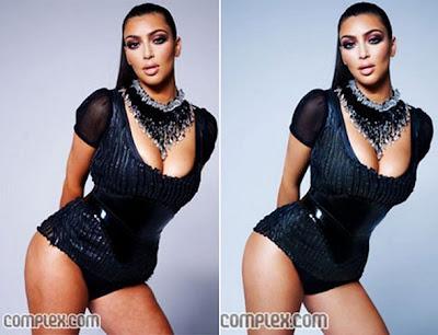 Kim Kardashian tanpa photoshop